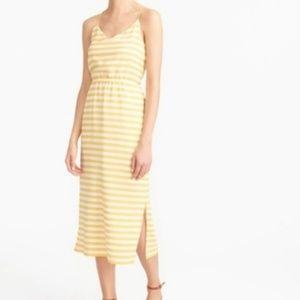 "J Crew ""Carrie"" Striped Silk Midi Dress"